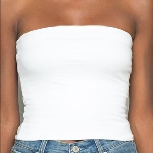 White Jenny Tube Top from Brandy Melville